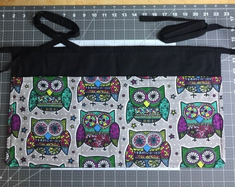 Owl Apron Server Apron Waitress Apron Restaurant Apron Made in Colorado Aprons by Shelly Aprons for Cooking Custom Apron Handmade Apron