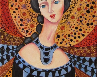 YEGANEH-original oil painting on stretched canvas