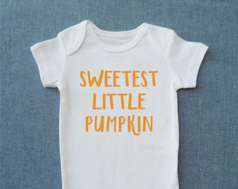 aeca8c2458be Sweetest Little Pumpkin   Fall Baby ONESIE®   Pumpkin Baby ONESIE®    Pumpkin Baby Bodysuit   Fall Baby Clothes   Baby Gift