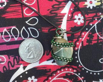 Green Agate Pendant