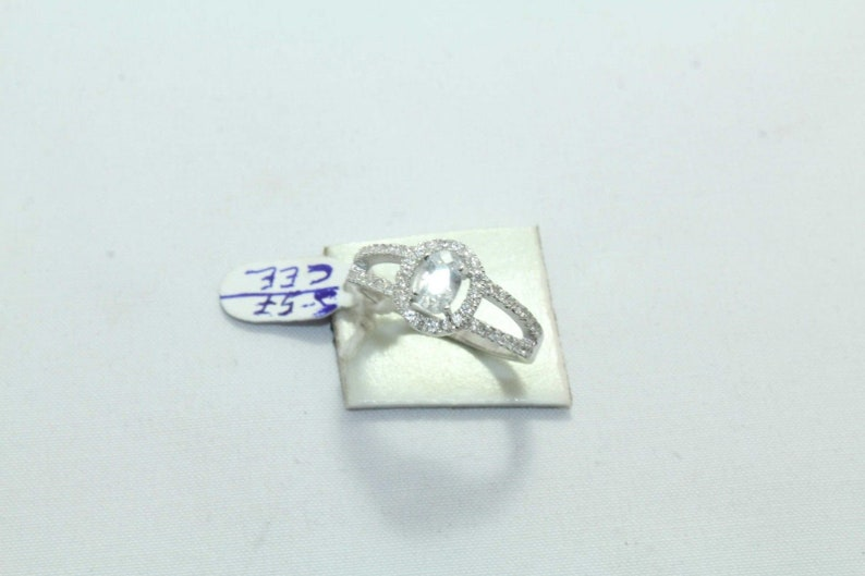 Rajasthan Gems Sterling silver 925 Women/'s ring Zircon stones Ring Size 6 12