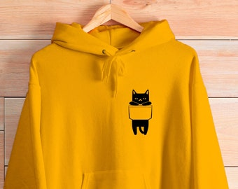 Funny Cat Face Gift Unisex Hoodie