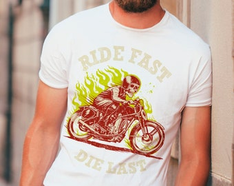 Motorcycles Speedlands Mens PRINTED T-SHIRT Wings Bikes Ride Until You Die