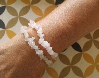 Rose Quartz Bracelet - Stretch Bracelet - Stone Bracelet