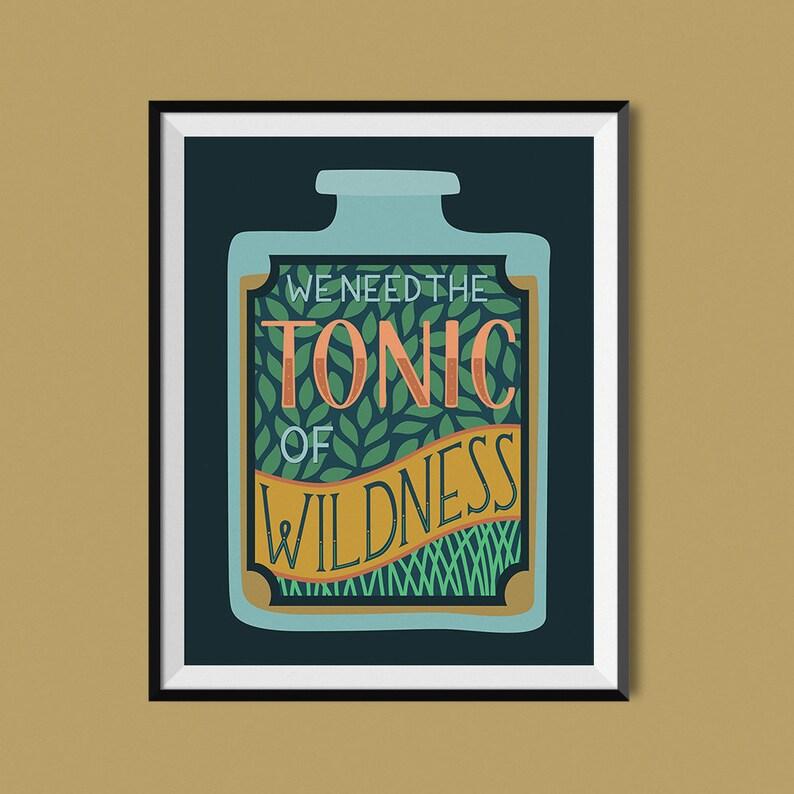Tonic of Wildness  Henry David Thoreau  Art Print image 0