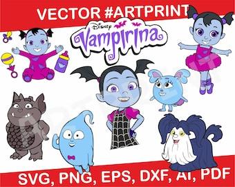 Disneyu0027s Vampirina Svg Bundle, Vampirina Clipart, Demi Wolfie Gregoria Svg,  Png, Cut Files For Cricut And Silhouette