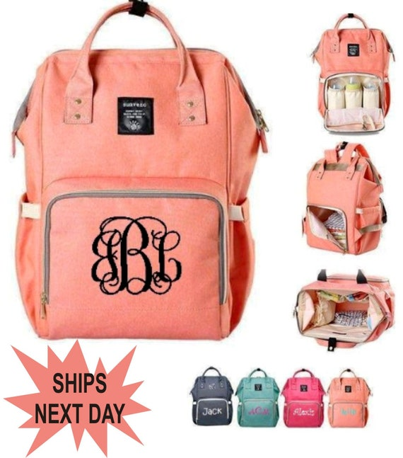 Baby gift Personalized Backpack Diaper Bag Boy Baby Girl Monogrammed Diaper bag Diaper Bag Easy Carry diaper bag black diaper bag
