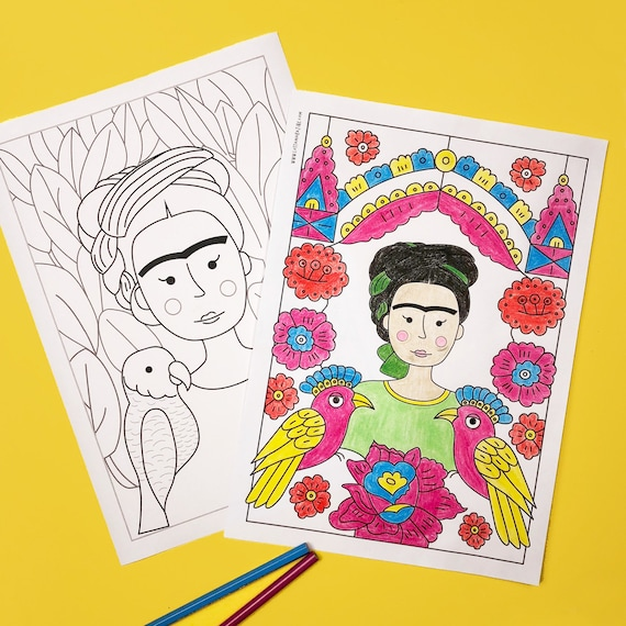 - Frida Kahlo Colouring Pages Printable Coloring Etsy