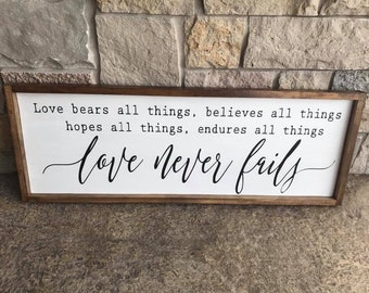 Hand Painted Wood Sign Art