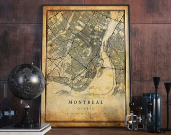Map of montreal | Etsy