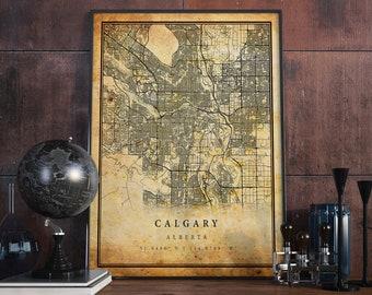 Calgary city map   Etsy