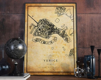 D Antique Map Of Italy Art Print Home Decor Wall Art Poster