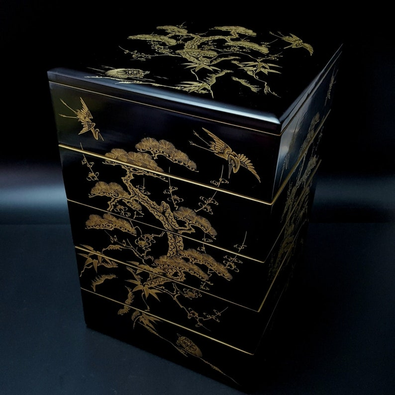Lacquerware Tiered Food Box Meiji WBOX