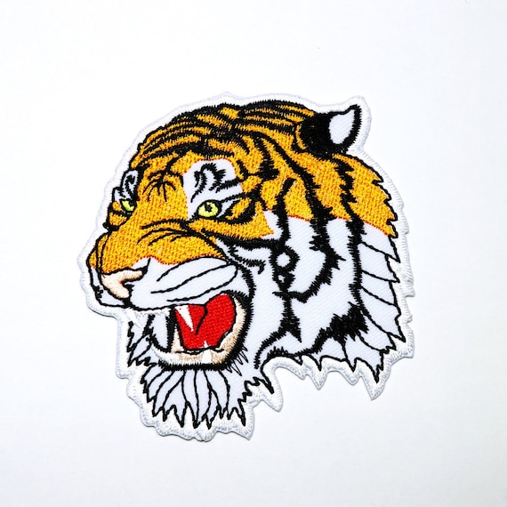 FINE 100/% EMBROIDERED BENGAL TIGER EMBROIDERED BENGAL TIGER IRON ON TIGER PATCH