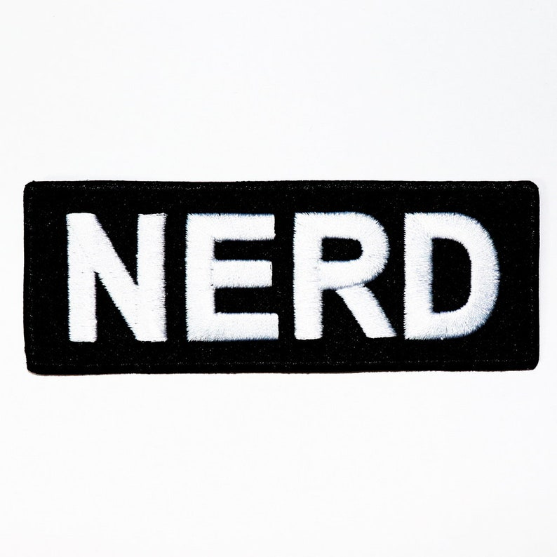 NERD patch 80s Retro Generation Old School music Fashion Teenager Emblem  Applique DIY Clothes Jeans Jacket backpack Embroidery Iron on Patch