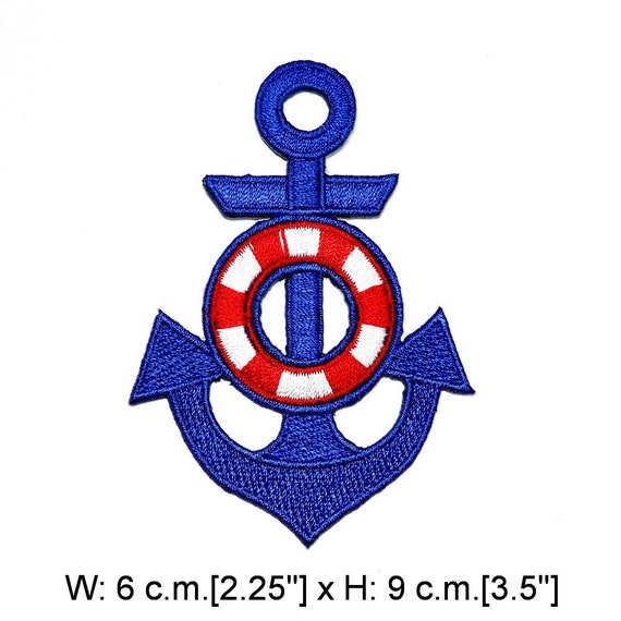 Lovely Blue Nautical Anchor SEA Biker Hippie Iron On Patch HOT SALE
