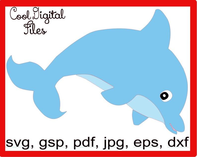 Dolphin, svg, gsp, dxf, esp, pdf, jpg, Instant Download