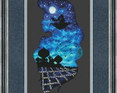 Jasmine and Aladdin in Agrabah Cross Stitch Pattern DMC Needlepoint Embroidery Chart Printable PDF Instant Download