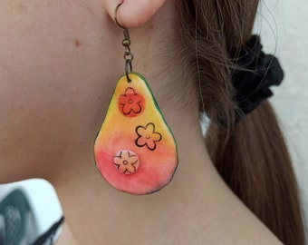Statement Polymer clay earrings