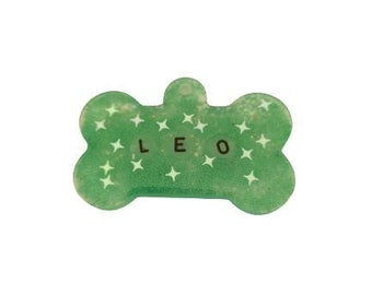 personalized bone with name or phone. Handmade. bone for your dog's collar