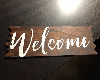 Welcome Stained Sign