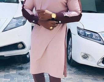 Amoke African men shirt and a matching pant set/African clothing/African men clothing/African men shirt /dashiki/summer/prom/groom suit