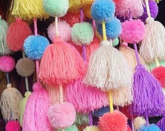 Pastel hand made garland with bangs