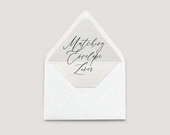 Add-on: Wedding Invitation A7 Envelope Liner