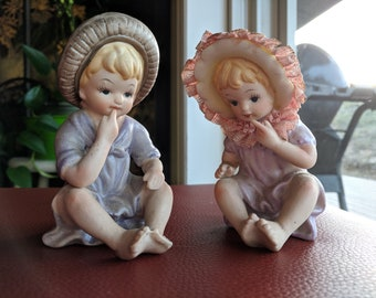 McCrory Corp Bisque Babies (set of 2) Vintage