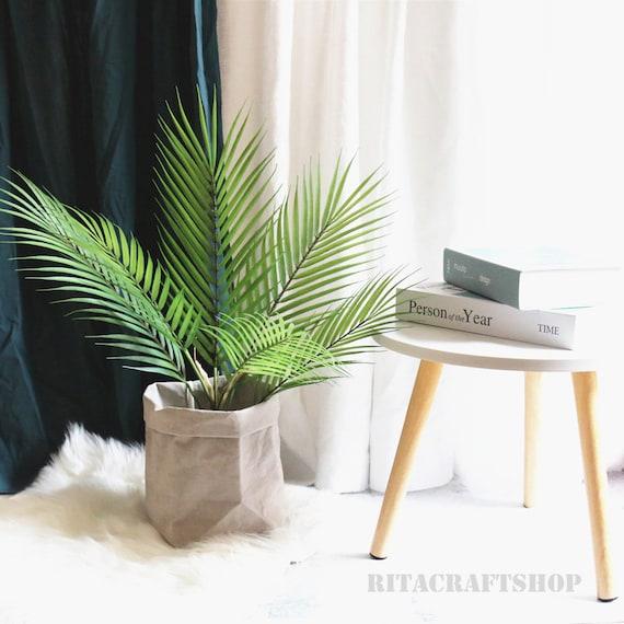 1 Pcs Artificial Palm Tree Bush Faux Tropical Plants Greenery Etsy