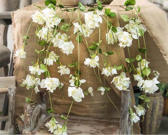 1 tige artificielle Rose guirlande Fake suspendus vignes Faux Rose mariage décor mur mariage décoration Table Arrangement de fleurs