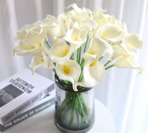 10 Stems Real Touch Faux Calla Lily Artificial Calla Lily Fake Etsy
