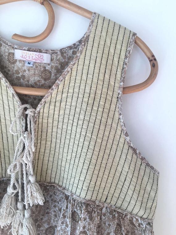 Indian Cotton Gauze Long Bohemian chic hippie style dress woman dress cotton maxi Gypsy dress ethnic dress sleeveless dress