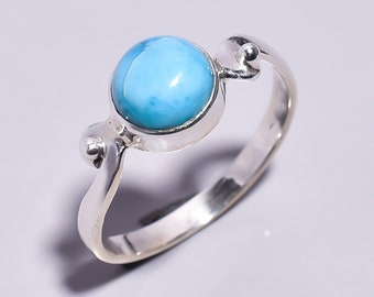 Impressive Fancy Shape Natural Raw Turquoise 925 Sterling Silver Rings Handmade Women Size US 7 Adjustable