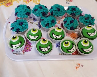 mike monster inc cupcake toppers