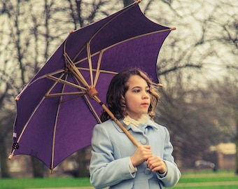 Haasch Supabrella Small size: Fairtrade, ethical, plastic-free, biodegradable, umbrella for sun, umbrella for rain, parasol.