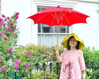 Haasch Supabrella Large Size: Fairtrade, ethical, plastic-free, biodegradable, umbrella for sun, umbrella for rain, parasol.