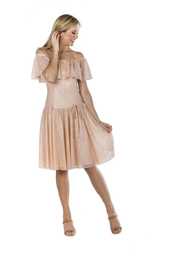 ad274ed5b1c4 Cream Off-the-Shoulder Dress