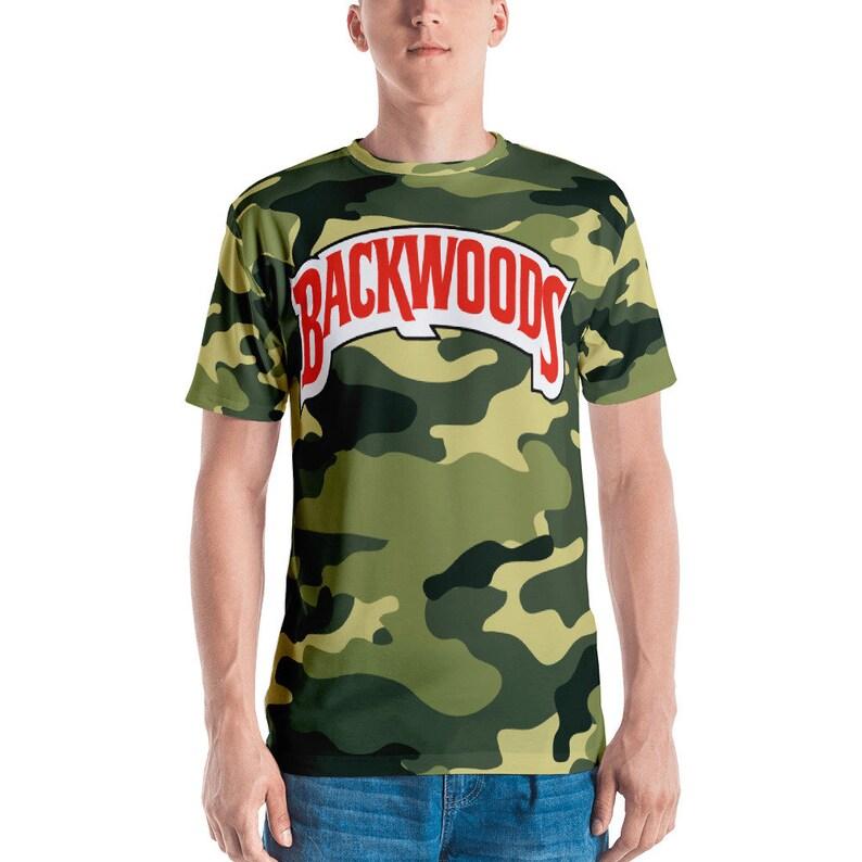 46b38934ae60 Backwoods Camo Men's T-shirt | Etsy