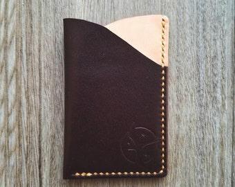 Handmade Slim Leather Wallet - Burgundy