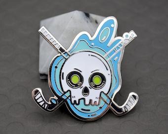 Haunted Hockey Enamel Pin