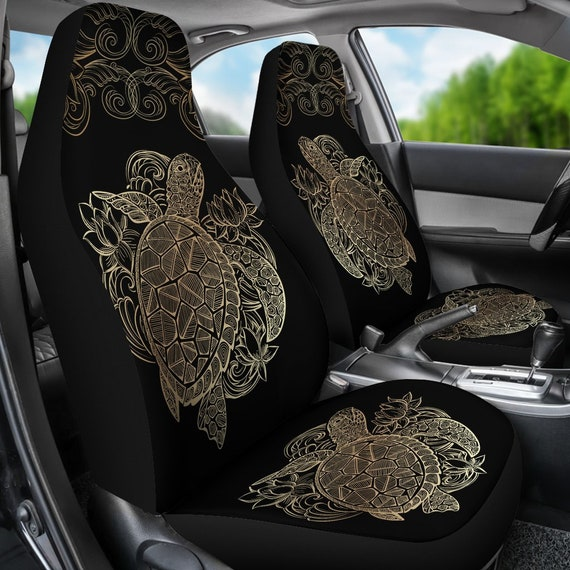 Magnificent Best Sea Turtle Car Seat Covers Sea Turtle Lover Front Car Cover Gift Custom Car Seats Pair Of Covers Turtle Car Seat Print Set Uwap Interior Chair Design Uwaporg