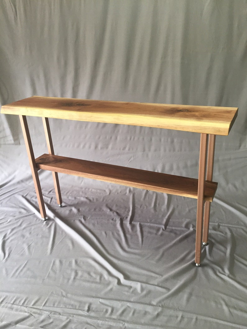 Remarkable Walnu Slab Sofa Table Machost Co Dining Chair Design Ideas Machostcouk