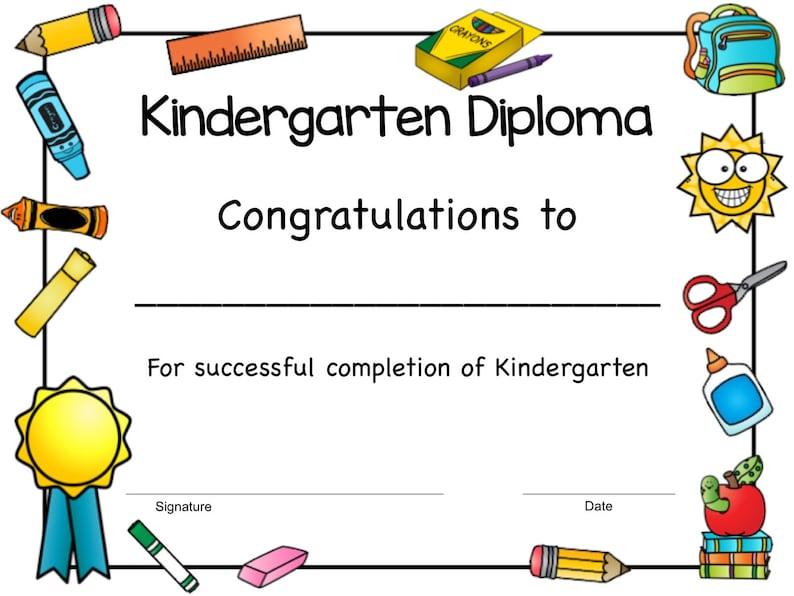 picture relating to Kindergarten Diploma Printable referred to as Printable Kindergarten Degree, Kindergarten Commencement Degree, Finish of Calendar year Degree for Kindergarten, Quick Down load