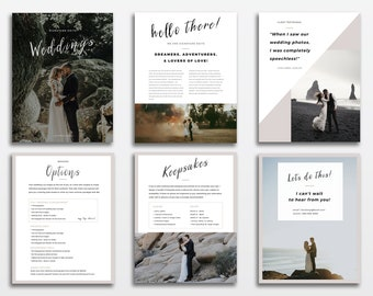 Pricing template, Wedding photography price list, Marketing brochure template pricing guide, Wedding Photographer Pricing Magazine Guide