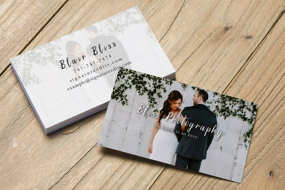 Sale Photography Business Card Psd Template For Wedding Etsy