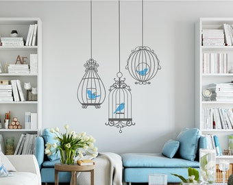 Wall Decal - 3 Birdcages