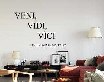 Julius Caeser - Quality Handmade Vinyl Wall Decal/Sticker