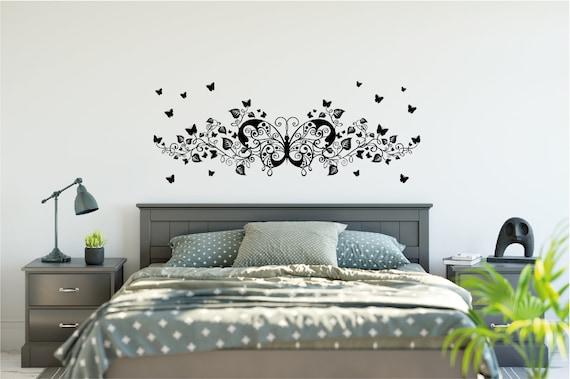 Quality Vinyl Wall DecalSticker Butterfly Headboard