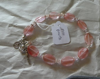 Rose Quartz Rosary Bracelet